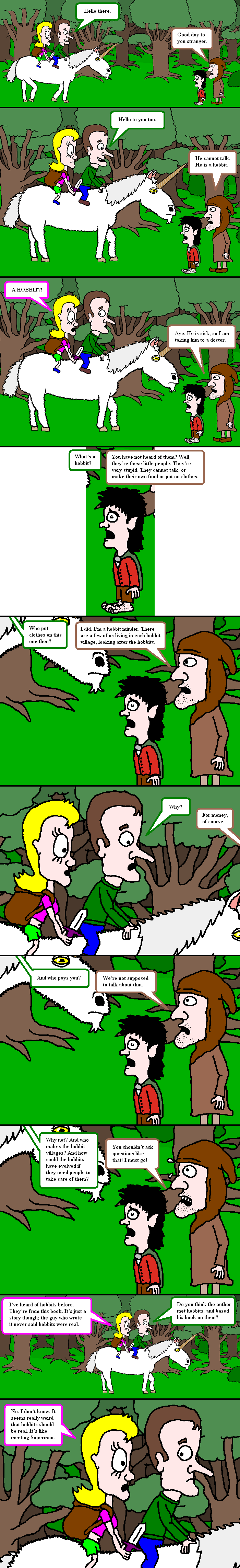 Hobbits and hobbit minders